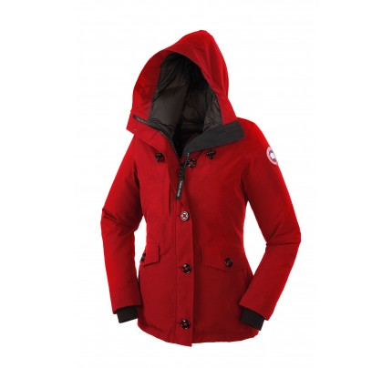 CANADA GOOSE RIDEAU PARKA Red WOMENS 3800L