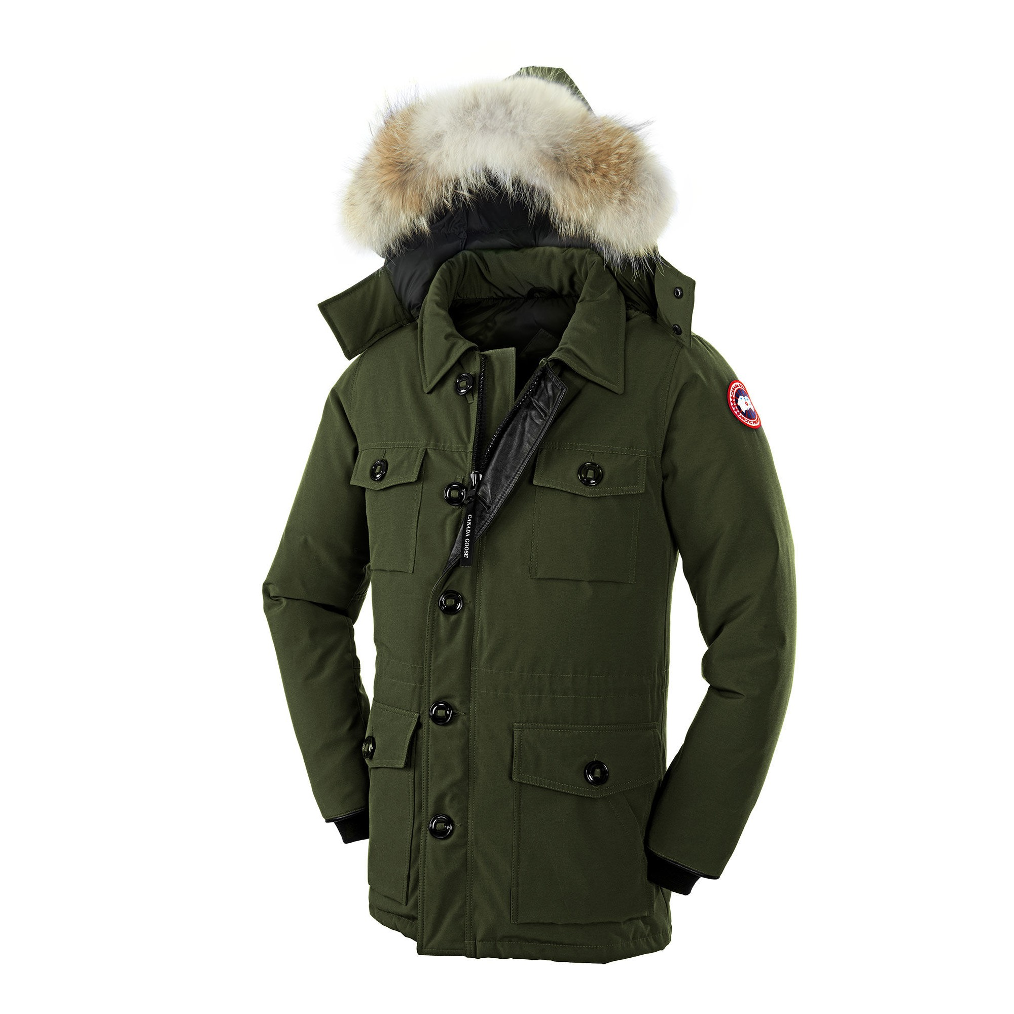 canada goose banff parka men military green 4074m. Black Bedroom Furniture Sets. Home Design Ideas