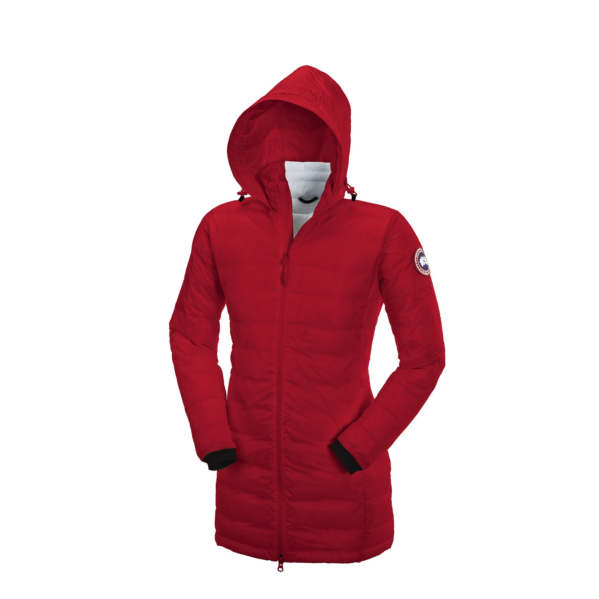 CANADA GOOSE CAMP HOODED JACKET Red Womens 5061L 2d91fec058