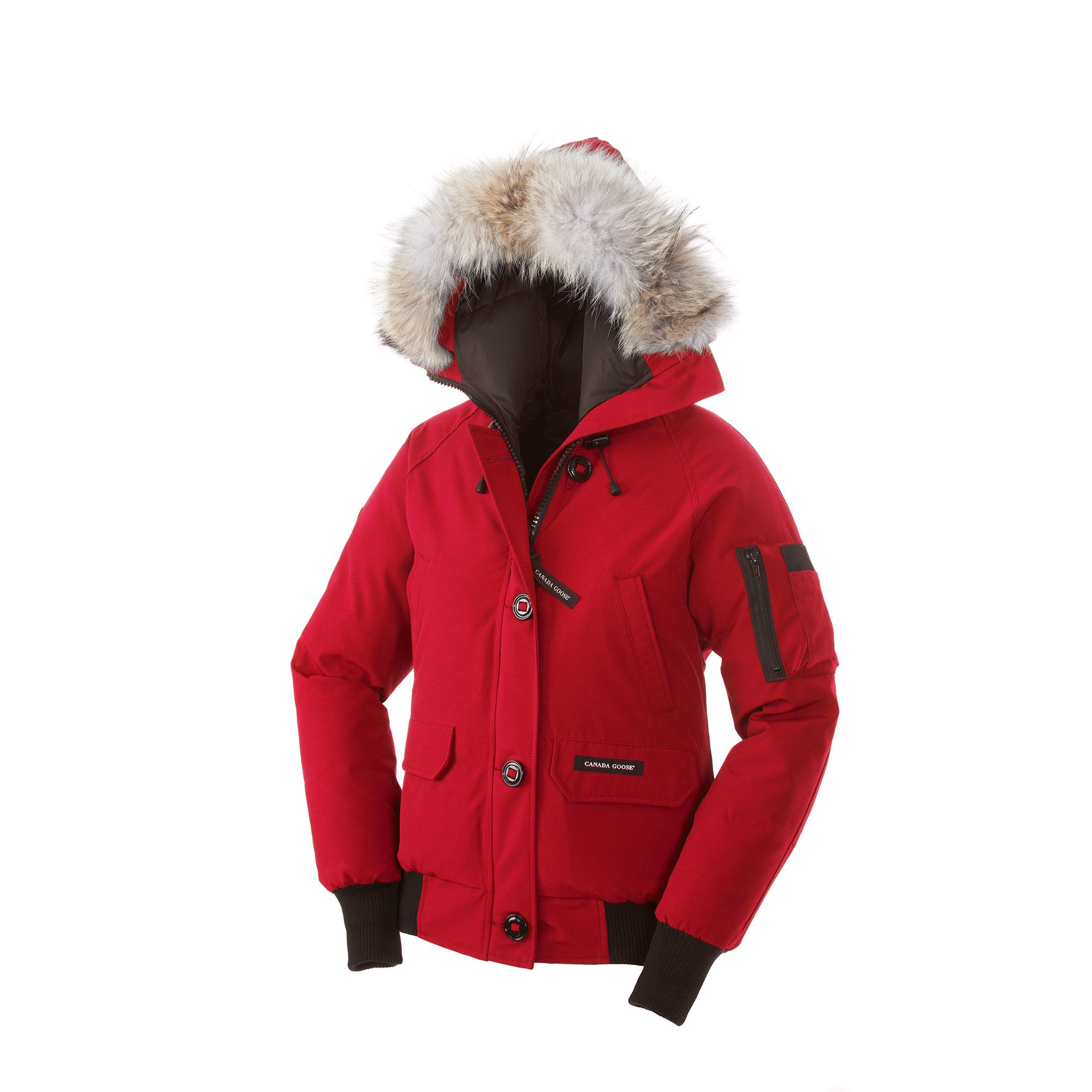 canada goose red bomber womens