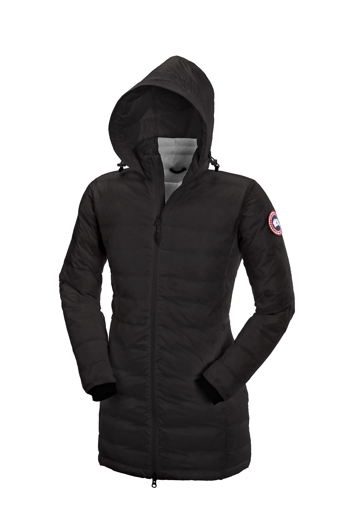 CANADA GOOSE CAMP HOODED JACKET Black Womens 5061L