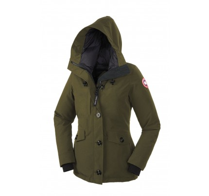 CANADA GOOSE RIDEAU PARKA Military Green WOMENS 3800L